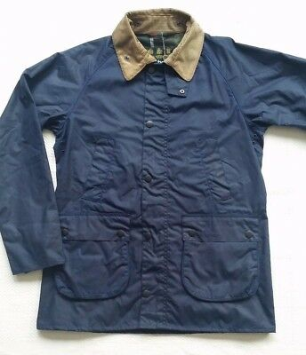 Barbour SL Bedale Men's  Waxed Cotton  Jacket - Indigo Size Large