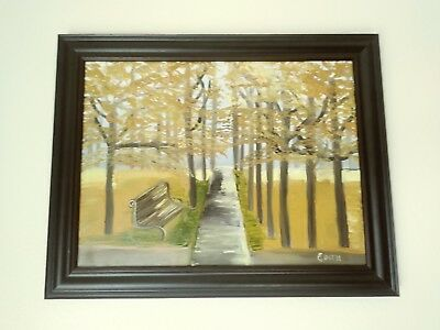 """Large Grace Grey 1973  """"The Sentinel"""" Oil On Canvas Painting - Signed And Framed"""