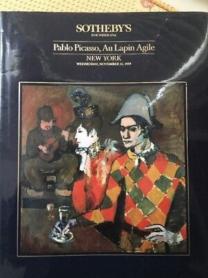 Sotheby's Pablo Picasso Au Lapin Agile  15 November 1989  New York 5928
