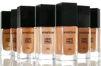 NIB Smashbox Liquid Halo HD Foundation SHADE 4 Oil Free & Photo Finish SPF15