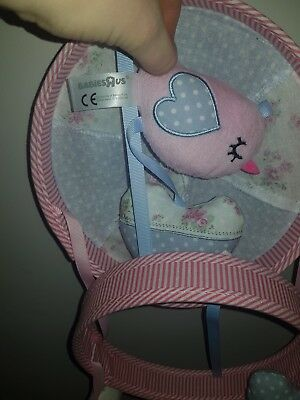 Vintage Love And Kisses Baby Girl Cot Mobile
