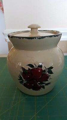 Home And Garden Party Stoneware Crock Apple Canister