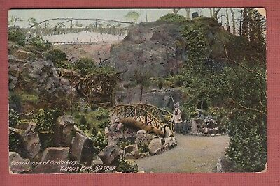 General View of the Rockery, Victoria Park, Glasgow, Printed Postcard 1911 #97