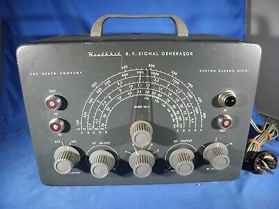 Heathkit R.f. Signal Generator Model Sg-8 Benton Harbor Michigan For Ham Radios