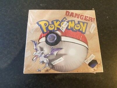 Pokemon Sealed Fossil Booster Box Extremely Rare Excellent Condition WTC