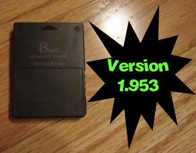 PS2 FreeMcBoot v1.953 Memory Card Free McBoot Installed Latest Version FMCB 8MB