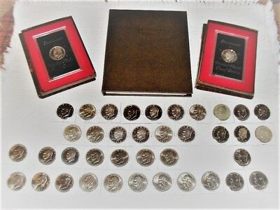 Collection Complete Set Of Eisenhower Dollars Plus Extras Plus Silver No Reserve
