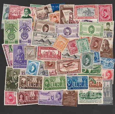 Egypt 1914-1960 Large Selection Of Mint / Unused Stamps (60)