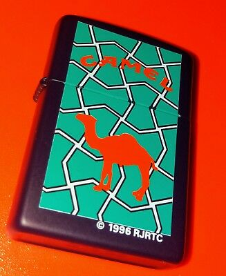 """1996""""stained Glass""""camel Zippo (Z191) In Blue Matte..new/unfired"""