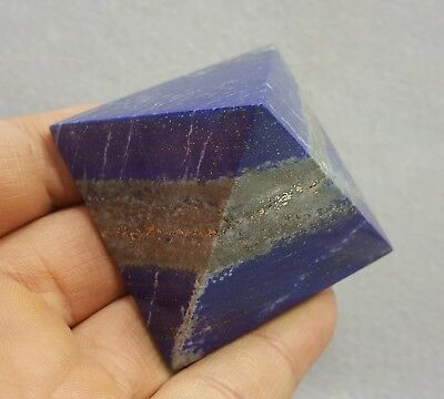 Royal Blue Natural Lapis Lazuli Crystal Egyptian Pyramid shape 137 gram 1 Pc