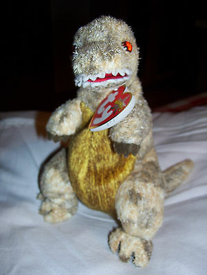 Stofftier Ty Beanie Baby Dino Dinosaurier Rex Toothy