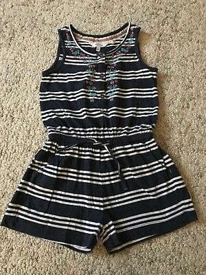 Fat Face Navy Playsuit 4-5 Barely Worn