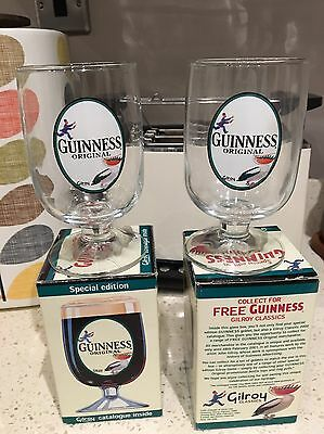 New Boxed  Pair Of Vintage Special Edition Guinness Gilroy Goblet