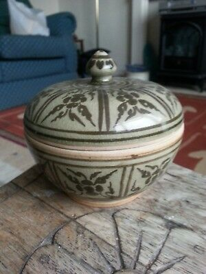 pot with lid cant make out makers mark see pictures