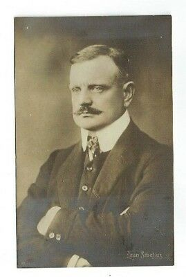 Old Music Postcard Jean Sibelius Composer / Musician Real Photo Vintage 1905-10
