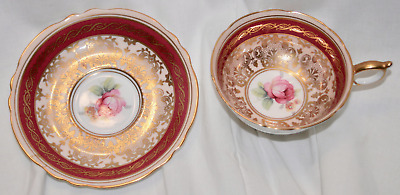 Paragon England Double Warrant Cup and Saucer Rose A1159