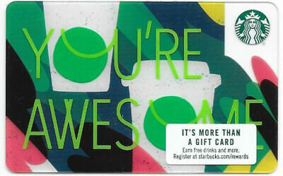 Starbucks 2018 You're Awesome gift card series 6149 US spring