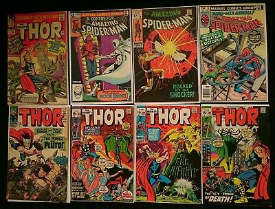 Silver, Bronze age mid to high grade comics Amazing Spiderman, the Mighty Thor