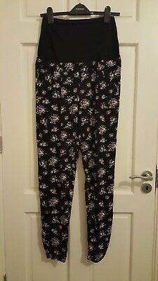 BNWT NEW Maternity black floral over bump trousers UK size 6