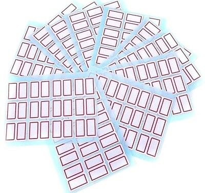 144x Labels SCHOOL/HOME/OFFICE/BUSINESS Sticky Self Adhesive 2 Sections