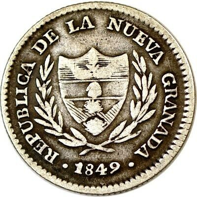 Columbia 2 Reales; 1849 VF  K3053
