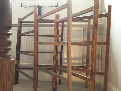 Original Victorian wooden Clothers Drying racks (x3)
