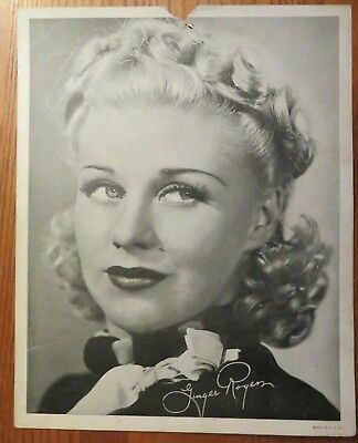 Alhambra Theatre Program for August 1938 - Ginger Rogers photo on reverse side.