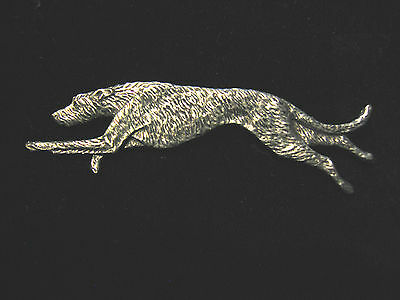 Irish Wolfhound Running Pewter Pin * Stunning * Made In The USA!