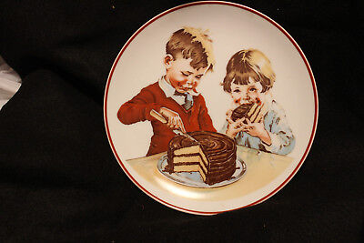 Collectible 1980 Hershey Foods PLATE Cover of Hershey's 1934 Chocolate Cookbook