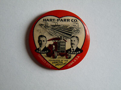 Hart-Parr Co. Tractor Pin Back Charles City Iowa USA  American Art Works Nice!