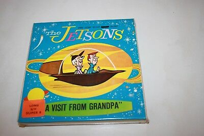 Vintage Super 8 B&W Silent Movie The Jetsons 'A Visit From Grandpa' (New Sealed)