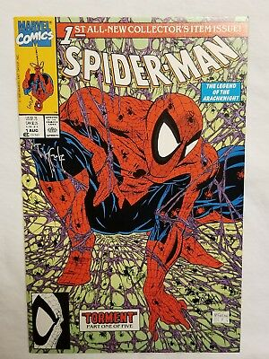 Spider-Man #1 Torment Nm Comic Book Signed By Todd Mcfarlane W/stamp Key Rare !!