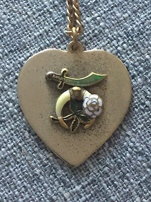vintage Daughters Of The Nile Pendant Necklace