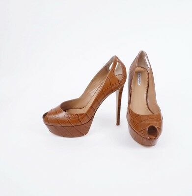 Women Shoes ARMANI High Heels Bronze Sexy brand new Size 36 M