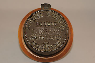 Vintage Neptune Trident Water Meter Cover New York Nice Patina