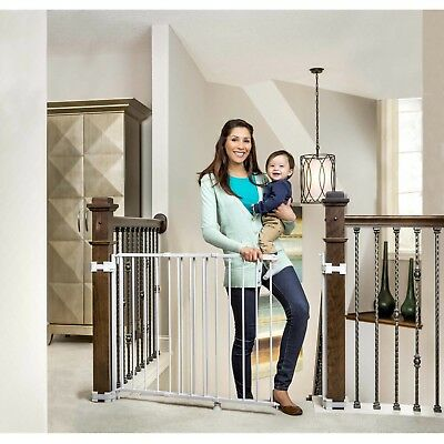 """Top of Stairs Baby Toddler Child Safety Gate, 26""""""""-42"""" for Banisters or Walls"""