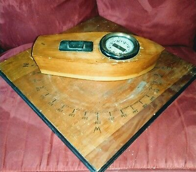 Rare 1937 Military Naval Marine Coast Guard Training Navigation Tool Compass ???