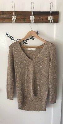 Gold Sequinned Zara Knit - Size Small
