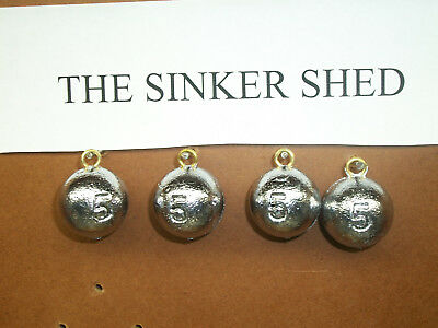 5 oz cannonball sinkers - choose quantity 10/25/50 - FREE SHIPPING