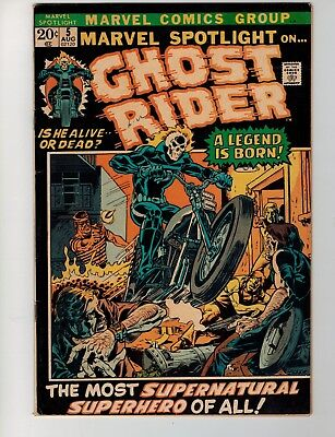 Marvel Spotlight 5 first app Ghost Rider  nice mid-grade