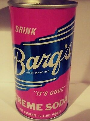 Barq's Creme Pull Tab Soda Can - Evansville, Indiana!!!