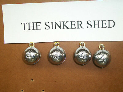 4 oz cannonball sinkers - choose quantity 10/25/50 - FREE SHIPPING