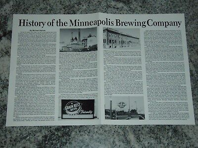 History of the Minneapolis Brewing Company Poster / Sign, MN, Grain Belt Beer