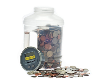 Enormous Piggy Bank Big Coin Jar Set Money Jug Counter Adult Digital Holder New