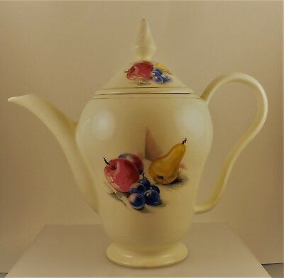 Very Rare Edwin M. Knowles Utility Ware Fruits Coffee/Teapot Mint Condition