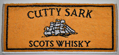 Vintage CUTTY SARK SCOTS  WHISKY Scotch British English Bar Pub Towel Liquor