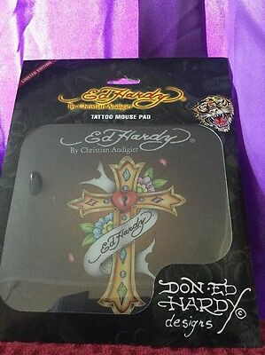 Ed Hardy Mouse Pad Cross Tattoo Limited Edition Brand New
