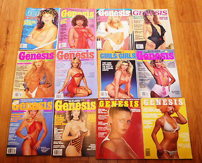 Vintage Lot of 12 GENESIS Mens Stag Magazines From The 1970's 1980's 1990's