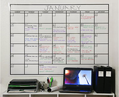 Huge Calendar 2018 Scheduling Wall Whiteboard Extra Large Oversized Giant New