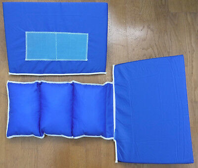 2 Sage Prevalon Body Wedge Positioning Bed Cushions Blue & Black Nylon
